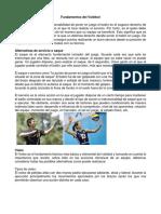 Fundamentos Del Voleibol