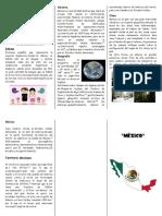 Triptico de Mexico