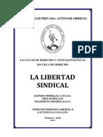 Monografía 01. La Libertad Sindical