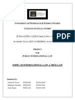 Pil Project - Is International Law a True Law