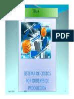Clase Costos Por Ordenes de Produccion