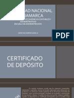 Certificados de Depósitos