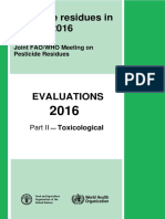 Pesticide residues in food — 2016