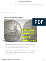 Currency Format in Write Statement - Beginner's SAP