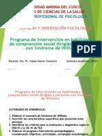Programa de Intervención en Sindrome de Williams