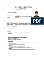 Bachiller en Ingenieria Electronica