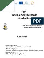 FEM Finite Element Method Introduction