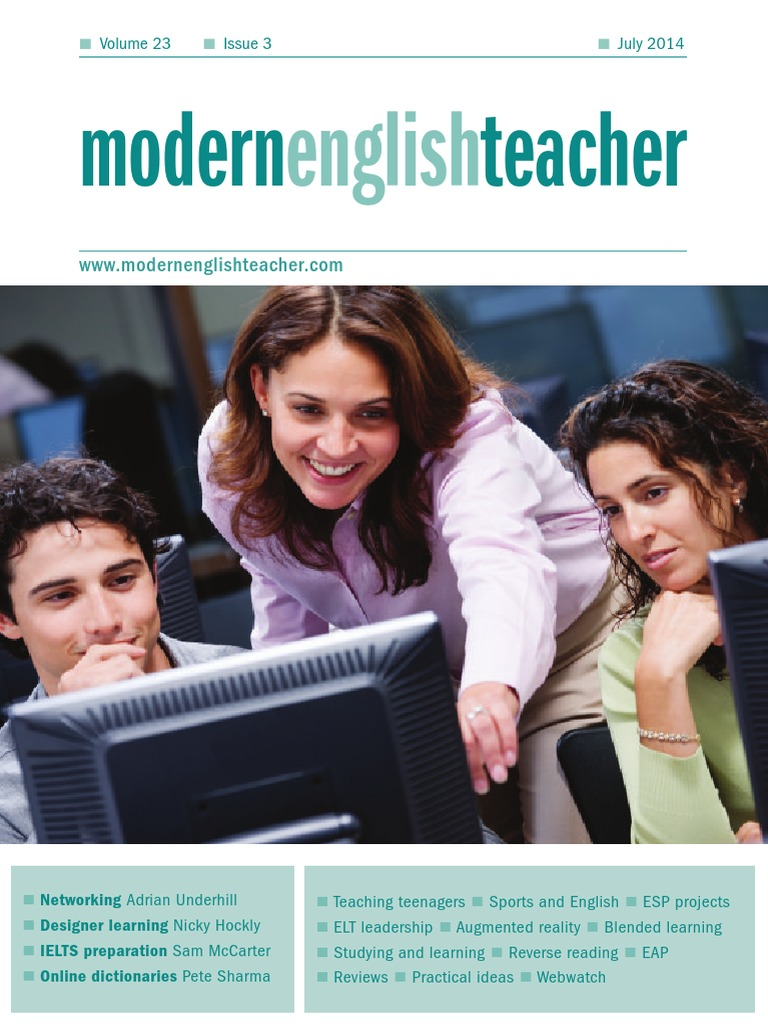 Modern English Teacher | English As A Second Or Foreign Language |  Publishing