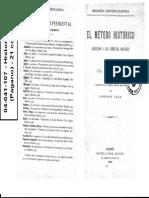04041107 - Seignobos - Simiand - _El Método Histórico_ (Introducción) y _Método Histórico y Ciencia Social