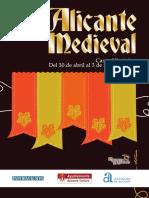 Programa Alicante Medieval 2015