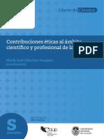 Sánchez Vazquez, Contribuciones Éticas...