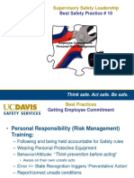 #10 Safety Leadership for Supervisors Tool -10 - Personal Risk Management