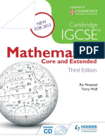 Cambridge IGCSE Mathematics - Core & Extended, 3rd Edition