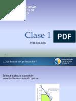 Clase 1 - Programación Lineal (2018)