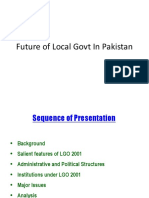 Future of LGs in Pakistan