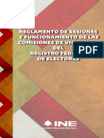 Reglamento de las sesiones de las comisiones de Vigilancia