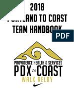 2018 Providence Portland To Coast Relay Handbook
