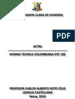 NORMAS ICONTEC ACTAS