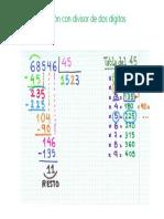 División Con Divisor de Dos Dígitos