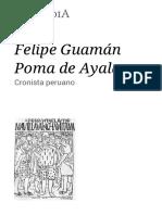 Felipe Guamán Poma de Ayala - Wikipedia, La Enciclopedia Libre