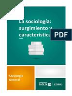 1. La Sociología - Surgimiento y Características