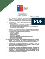 Comunicado de Prensa Presidente de La Republica