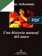 Ackerman Diane - Una Historia Natural Del Amor