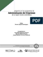 2017 Lombana-Zapata Ia Investigación en El Programa de Administración UniNorte