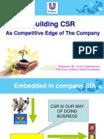 Unilever CSR for TOT.ppt