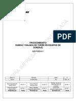 EHS-P-DDH-011 Procedimiento Subida y Bajada de Torre