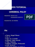 Pediatric case tutorial for suspected Cerebral Palsy
