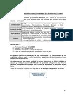 Invitación Coordinador de Capacitación 1 (Costa)
