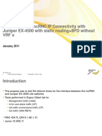248606148 Test Results for McRNC IP Connectivity With Juniper EX 4500 v1 0