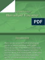 Harvard Vancouver
