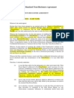 Non Disclosure Agreement En