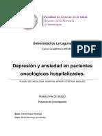 Depresion y Ansiedad en Pacientes Oncologicos Hospitalizados.