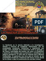 Geotecnia Aplicada a La Mineria Subterranea