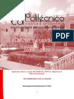 """Politécnico Costa Atlántica. Plan de Desarrollo-2014-2020 """"Un compromiso con la calidad""""."""