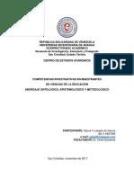 Competencias Investigativas en Estudiantes de Postgrado Abordaje Episontometo151117