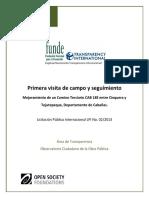 Primera Visita de Campo Al Mejoramiento de Camino Terciario Entre Cinquera-Tejutepeque%2C Cabañas