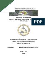 Informe de Prácticas Pre-Profesionales UNT 2014 - Marin López Gsefferson Pavel.
