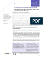 Design Considerations and Operational Performance of Anaerobic Digester - A Review