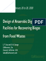 Design of Anaerobic Digestion Facilities for Recovering Biogas From Food Wastes