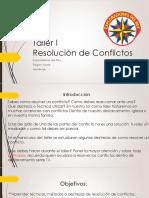 Taller I Resolucion de Conflictos