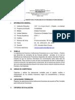 Sílabo de Unidad Didáctica Finanzas de Entidades Financieras i
