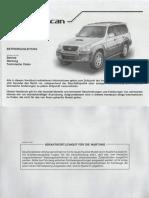 Hyundai Terracan Betriebsanleitung