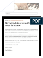 Ejercicios Improvisacion Notas Del Acorde