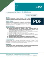 DDI - Diplomado en Diseño de Interiores 2018