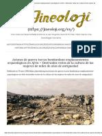Aviones de Guerra Turcos Bombardean Emplazamientos Arqueológicos en Afrin – Destruidos Restos de La Cultura de Las Mujeres de Miles de Años de Antiguedad – JINEOLOJI