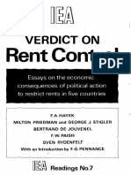 Verdict on Rent Control